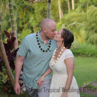 garden wedding on Kauai