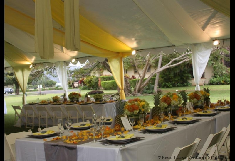 Wedding Reception Tent Decor